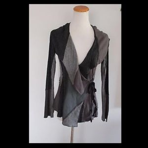 Anthropologie - Tiny - Black & Gray Boho Cardigan